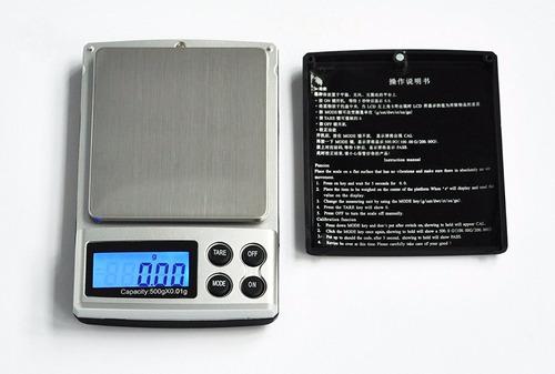 bascula digital gramera 0.01gr x 500gr - 0.01 x 500 gramos