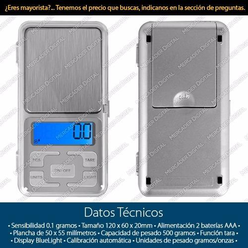 bascula digital gramera 0.1gr x 500gr - 0.1 x 500 gramos