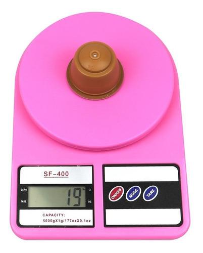 bascula digital gramera 3gr a 10kg rosa con envio
