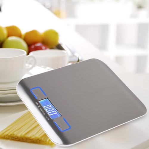 bascula digital para cocina acero inoxidable 5 kg