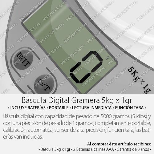 báscula digital para cocina de 1gramo x 5kilos envío gratis