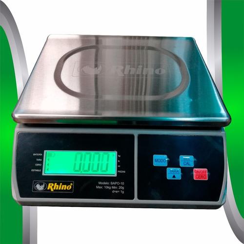 bascula digital rhino 10 kg / 1gr contadora, envio gratis