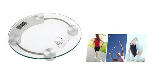 bascula digital vidrio templado fitness presicion baño dieta