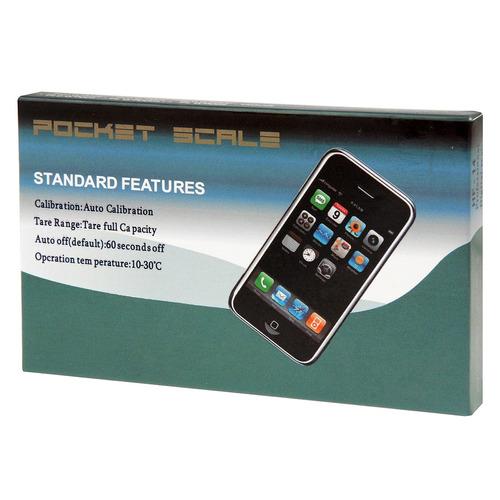 bascula electronica mini digital bolsillo portatil max 500