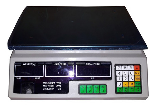bascula electronica peso digital 40kg leer descripcion