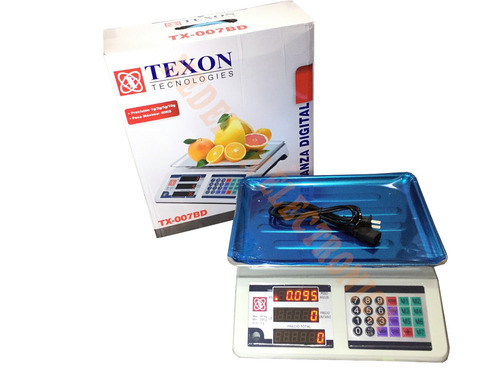 bascula electronica peso digital 40kg tx-007bd texon