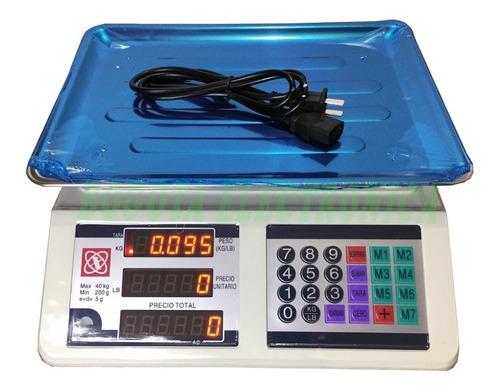 bascula electronica peso digital balanza gramera  40 kg