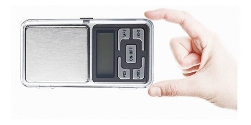 bascula gramera de bolsillo 500 gr 0.1 gramos digital obi