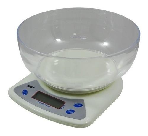 bascula multiusos digital gramera de 5 kg con tazon incluido
