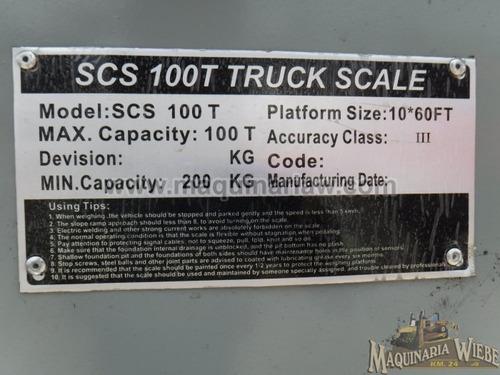 bascula para camiones capacidad de 100 ton. tipo plataforma