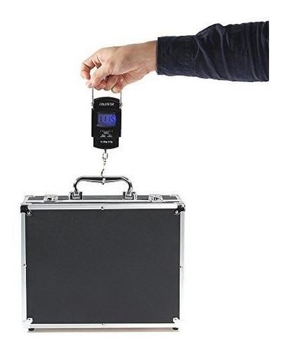 bascula para viaje pesar maleta hasta 25 kg division 10 gr