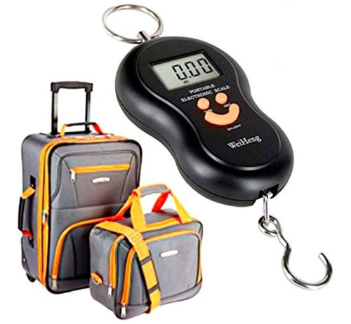 bascula pesa digital maleta equipaje mano 50kg hometech mnr