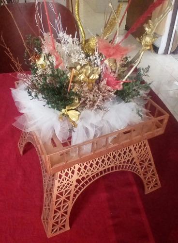 base 3d centro de mesa  color bronce en mdf corte cnc