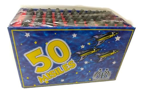 base 50 misiles -apto renar- promo pirotecnia la golosineria