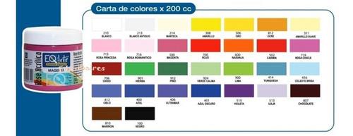 base acrilica pintura eq arte x 200cc - 20 potes oferta!!!