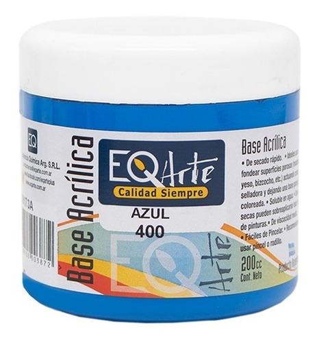 base acrilica pintura eqarte pote de 200cc  pack x 4 unidad