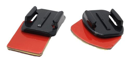 base adhesiva para casco para camara go pro 1 curva y plana