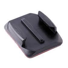 base adhesiva x1 unidades curva casco moto accesorio gopro -