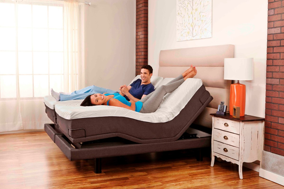 Base ajustable cama electrica reverie 8q tama o king size for Medida cama king size mexico