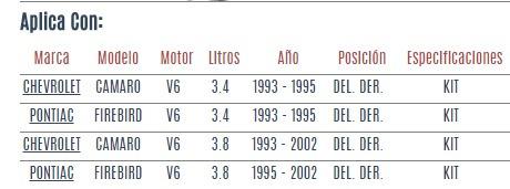 base amortiguador del. der chevrolet camaro v6 1993-2002 vzl