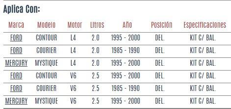 base amortiguador del ford contour l4/ v6 2.0 2.5 95-00 vzl