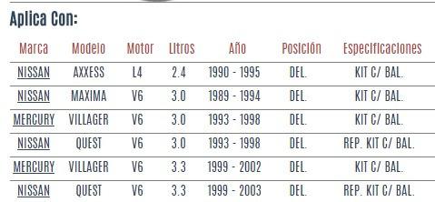 base amortiguador del nissan maxima v6 3.0 1989 - 1994 vzl