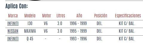 base amortiguador del nissan maxima v6 3.0 1995 - 1999 vzl