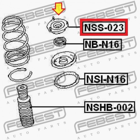 base  amortiguador  delantero nissan sentra b15 almera b10