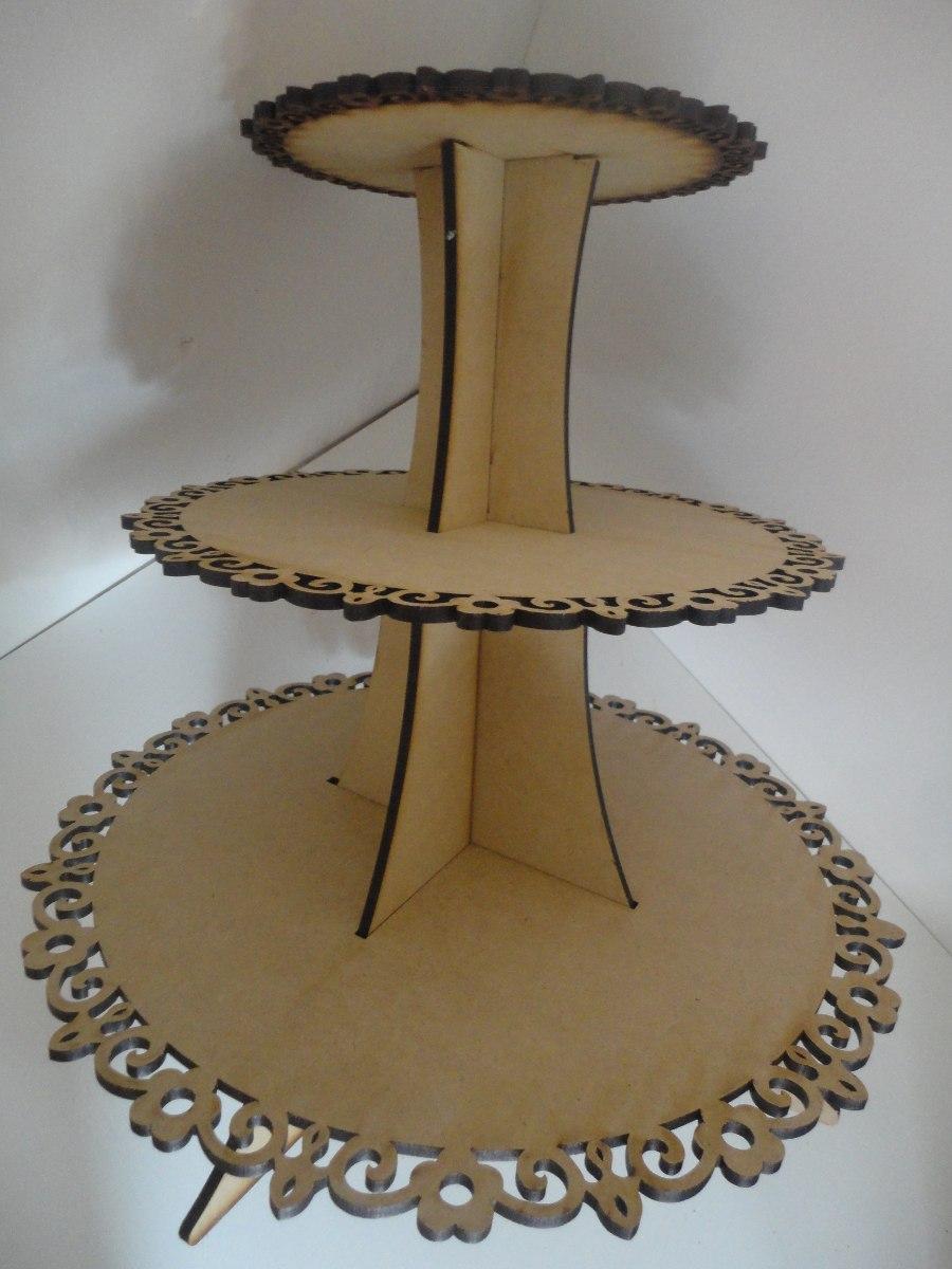 Base andana para cupcakes muffins centro de mesa mdf for Bases para mesas de centro