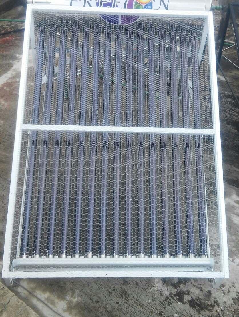 Base antigranizo para calentadores solares 15 tubos blanca for Termo solar precio