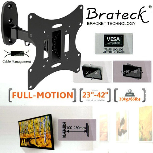 base articulada de pared tv led lcd monitor 23 42 pulgadas