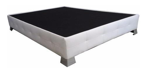 base blanca cama moderna tapizada acolchada pata crom indivi