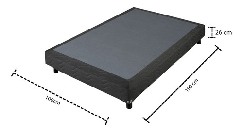 base box cama individual firme evolution demi sealy