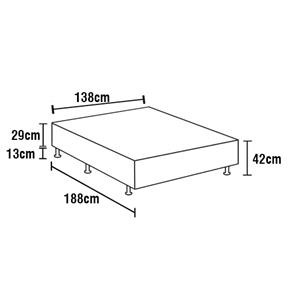 2e77e1344 Base Box Colchão Casal Inducol Royal 42x138x188cm Grafite - R  278 ...