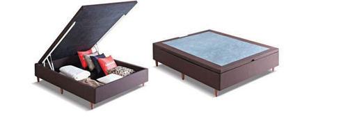 base box p- sommier con baulera. para colchon 140-190