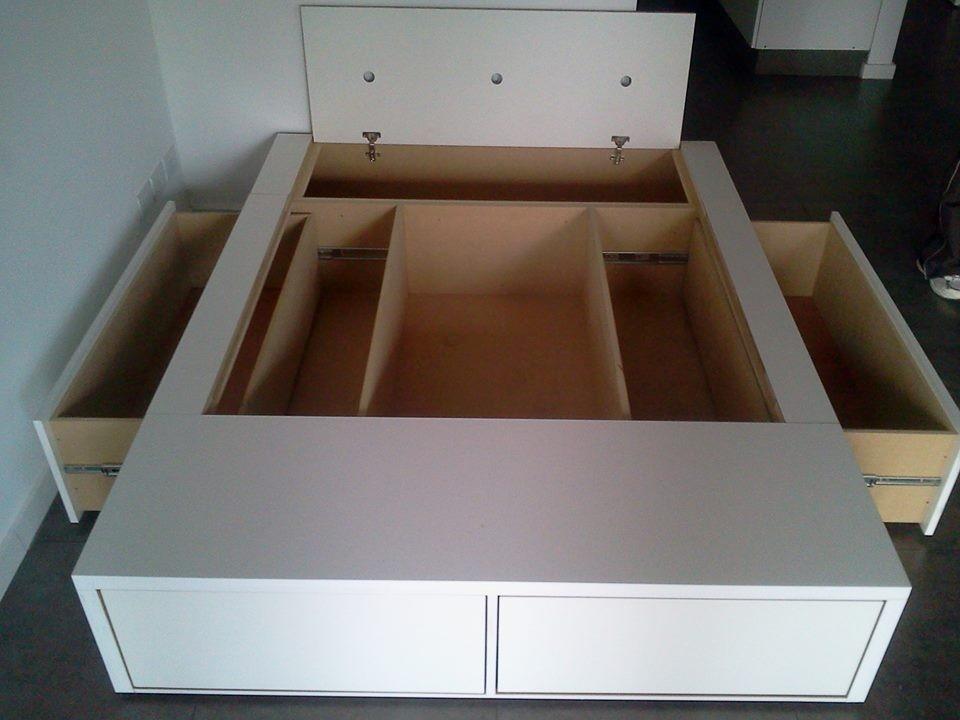 Base Box Somier Cama 2 Plazas 4 Cajones Bauleras Fabricante ...