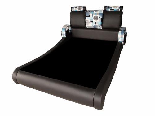 base cama 120x190+ cabecero curvo + cajones laterales oferta