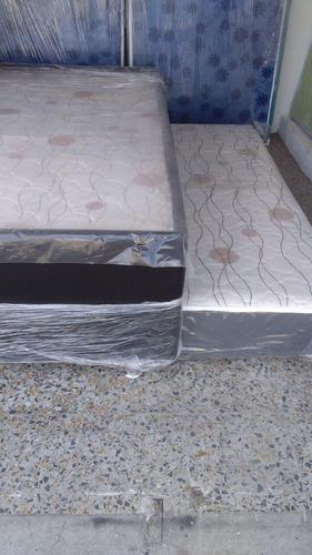 base cama + auxiliar con espuma incorporada semi doble 1.20