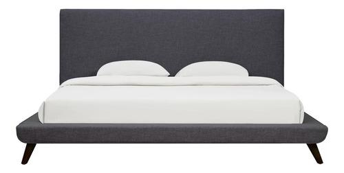 base cama california matrimonial tapizada - madera viva