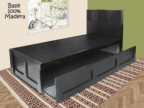 base / cama canguro ind de madera chocolate  venta solo  mty