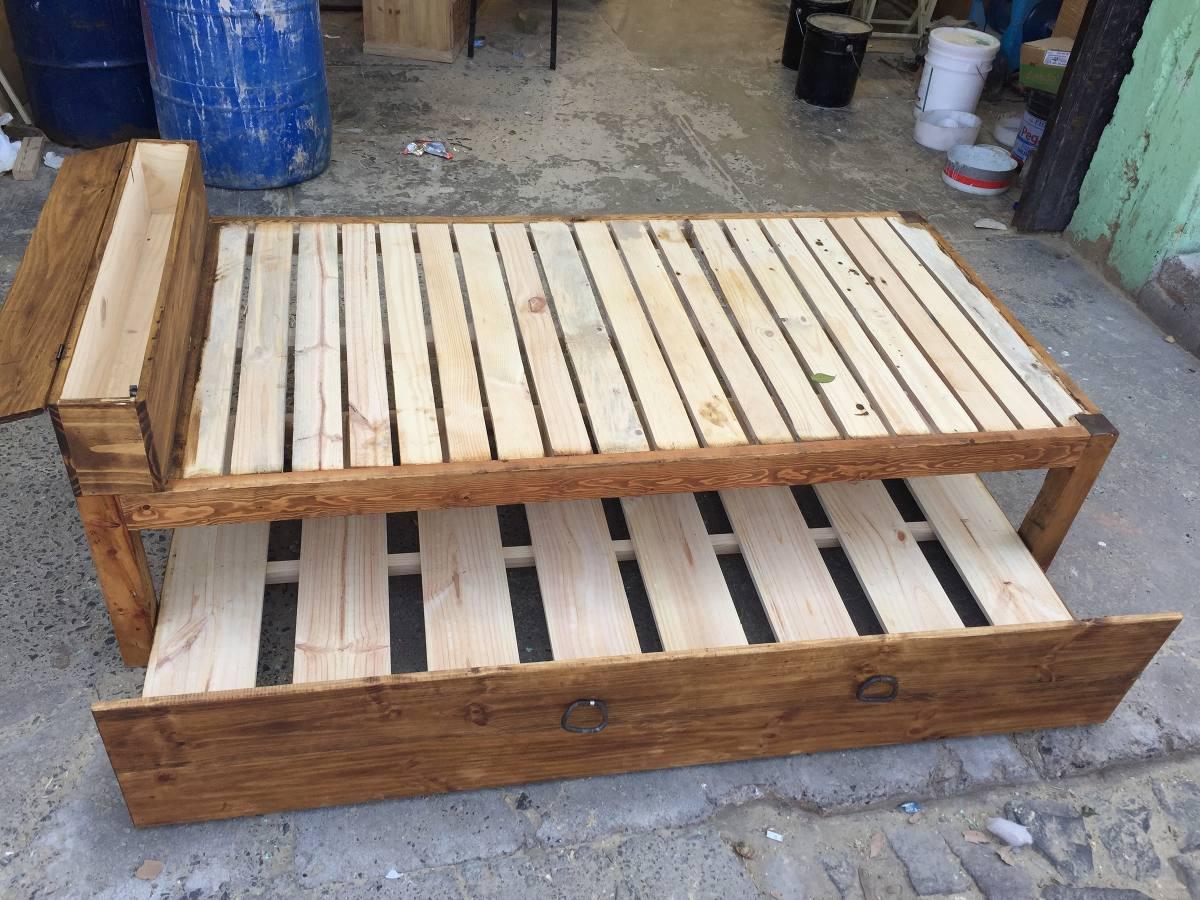 Base cama canguro individual 2 en mercado libre - Bases de camas de madera ...