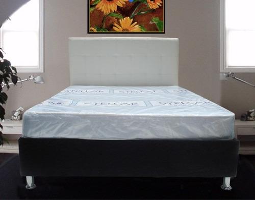 base cama + colchón moderna y elegante. mejor precio!