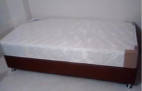 base cama + colchon semiortopedico+obsequio