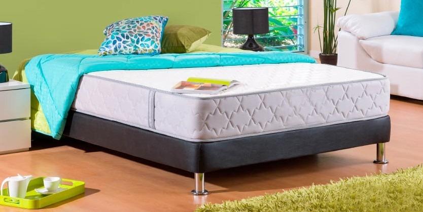 Base cama colch n semiortopedico resortado for Medidas colchon cama sencilla