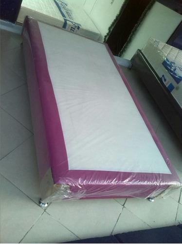 base cama de lujo 1.40x1.90  garantia 3 años