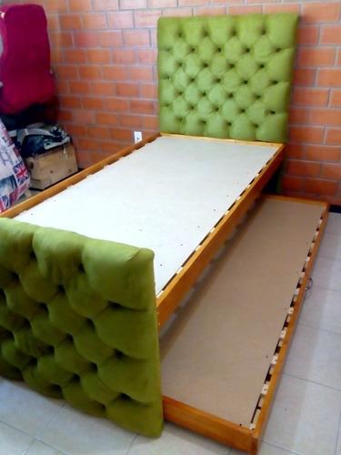 base cama individual canguro capitonada