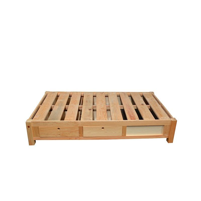 Base cama individual con cajones base cama madera for Base cama individual con cajones