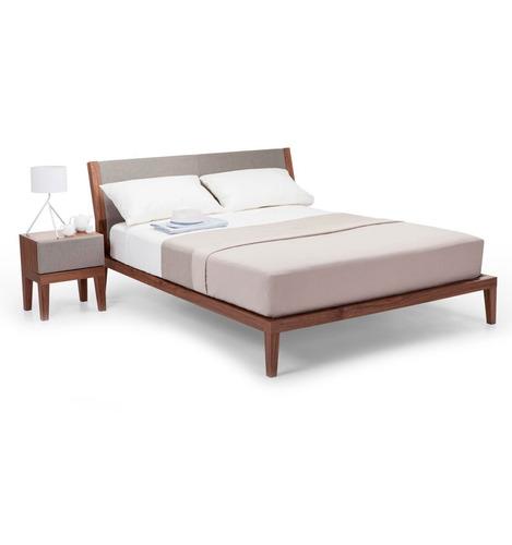 base cama individual madera tropical cabecera - madera viva