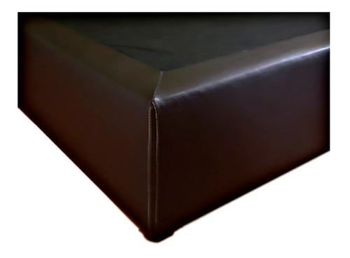 base cama individual tapizada + colchon restonic enrollable