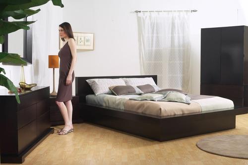 base cama kingsize madera pino cabecera - madera viva